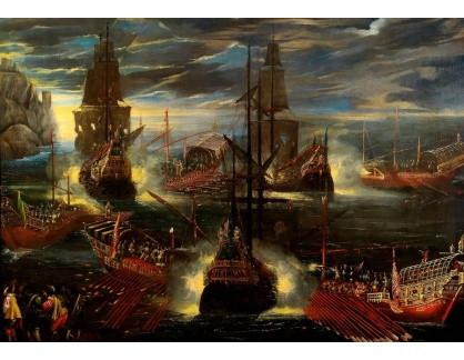 Slavné obrazy IX DDSO-942 Neznámý autor - Námořní bitva ve francouzsko-španělské válce