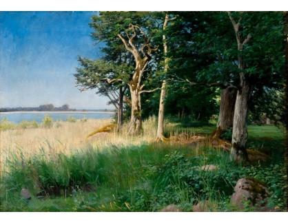 Slavné obrazy XVI-288 Axel Hjalmar Lindqvist - Klidný letní den