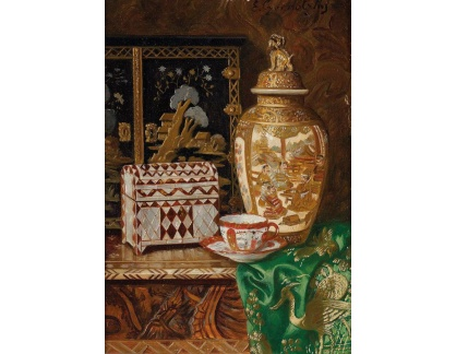 Slavné obrazy XVII-5 Ernst Czernotzky - Zátiší s japonskou vázou