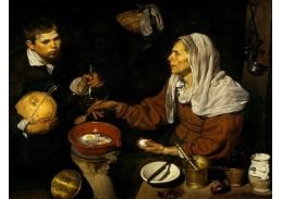 Slavné obrazy XII-96 Diego Velazquez - Žena vařící vejce