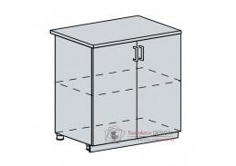 ANASTASIA, dolní skříňka 2-dveřová 80D, bílá / ořech