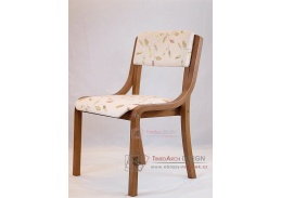 Z138 FILIPA, židle buková, merano / látka listy béžové