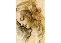 R1-289 Leonardo da Vinci - Studie ženské hlavy