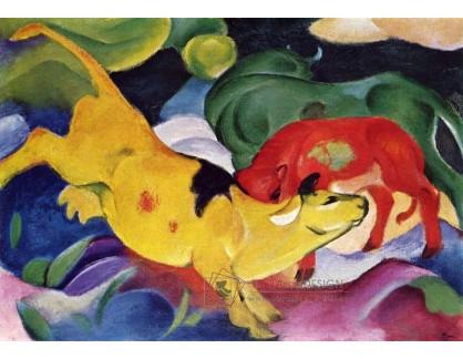 Obraz VFM 15 Franz Marc - Tři barevné krávy