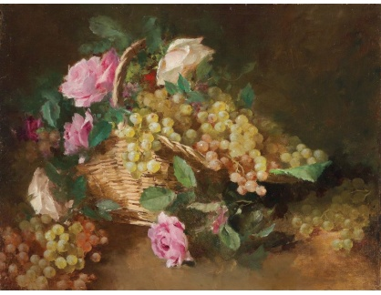 KO III-346 Pierre Louis Leger Vauthier - Koš s květinami a hrozny