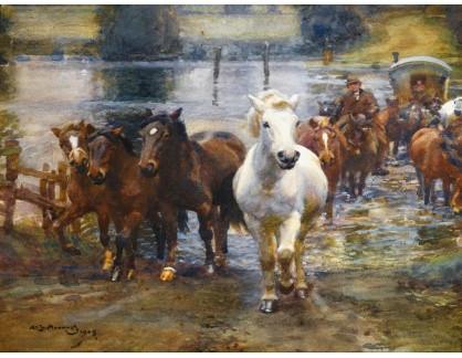 KO III-372 Alfred James Munnings - Přechod řeky