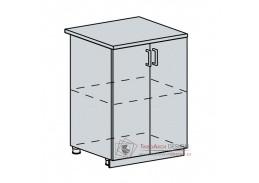 TECHNO, dolní skříňka 2-dveřová 60D, bílá / oranžová metalic