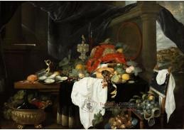 A-1307 Andries Benedetti - Zátiší s ovocem, ústřicemi a humry