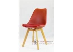 Jídelní židle BALI, buk / plast + ekokůže koňak