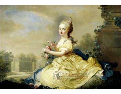 VN-194 Friedrich Ölenhainz - Portrét Marie Josephy Hermengilde, princezny z Lichtenštejnska