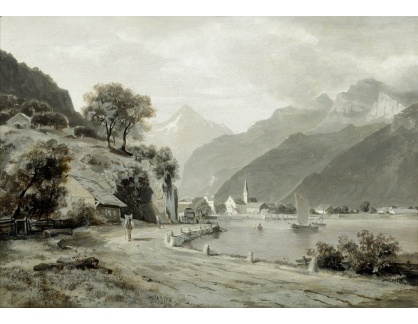 Slavné obrazy IX DDSO-968 Otto Frolicher - Pohled z Flüelen