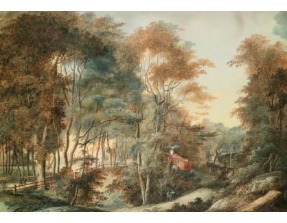 Slavné obrazy XVI-287 Axel Frederick Cederholm - Krajina s postavami