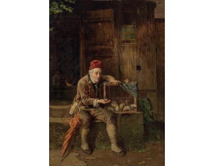 Slavné obrazy XVII-193 Fritz Beinke - Prodejce myši