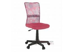 GOFY, kancelářská židle, růžová / vzor