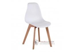 AYNA, jdelní židle, buk / plast bílý