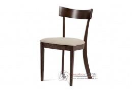 BC-3333 WAL, jídelní židle, ořech / látka krémová