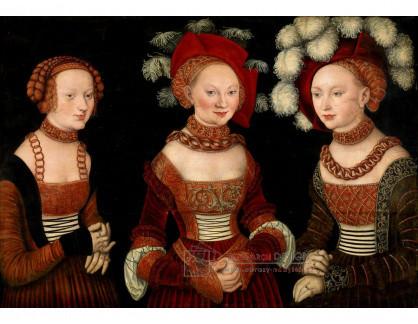 VlCR-70 Lucas Cranach - Portrét vévodkyní Sybille, Emille a Sidonie Saské