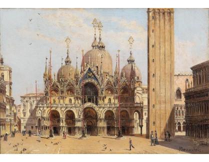 Slavné obrazy XVI-215 Antonietta Brandeis - Náměstí svatého Marka v Benátkách