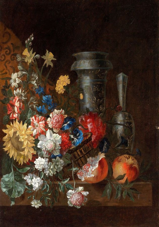 Krásné obrazy II-102 Jean Baptiste Belin de Fontenay - Zátiší z květin a ovoce