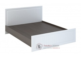 PRAGA KP-901, postel 160x200cm, wenge / bílá
