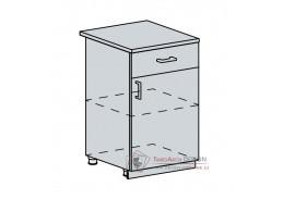 PROVENCE, dolní skříňka 1-dveřová se zásuvkou 50D1S, bílá