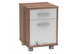JOHAN 2 NEW 07, kancelářský kontejner, švestka / bílá