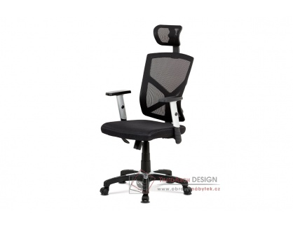 KA-H104 BK, kancelářská židle, látka mesh černá / síťovina černá