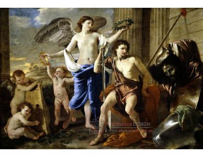 VF221 Nicolas Poussin - Daviduv triumf
