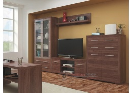 VEGAS SET 2, obývací sestava nábytku, dub santana tmavá