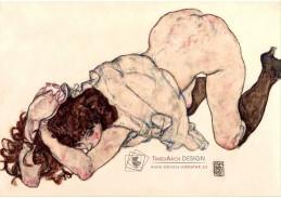 VES 233 Egon Schiele - Klečící dívka