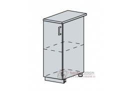 VERONA, dolní skříňka 1-dveřová 30D, bílá / zlatý jasan