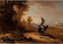 A-610 Bartholomeus Breenbergh - Jacob bojuje s andělem