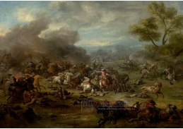 A-733 Jan van Huchtenburg - Bitevní scéna