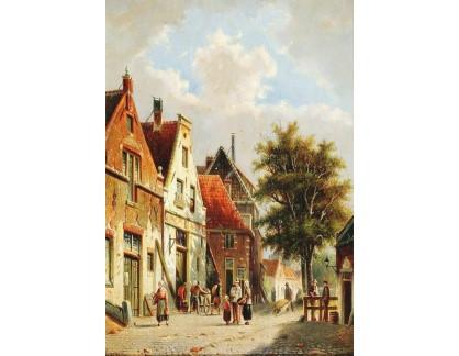 DDSO-2523 Adrianus Eversen - Pohled na holandské město