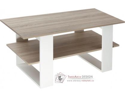 K159 KONRAD, konferenční stůl, dub sonoma / bílá