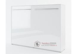 CONCEPT PRO CP-04, široká výklopná postel 140x200cm, bílá / bílý lesk