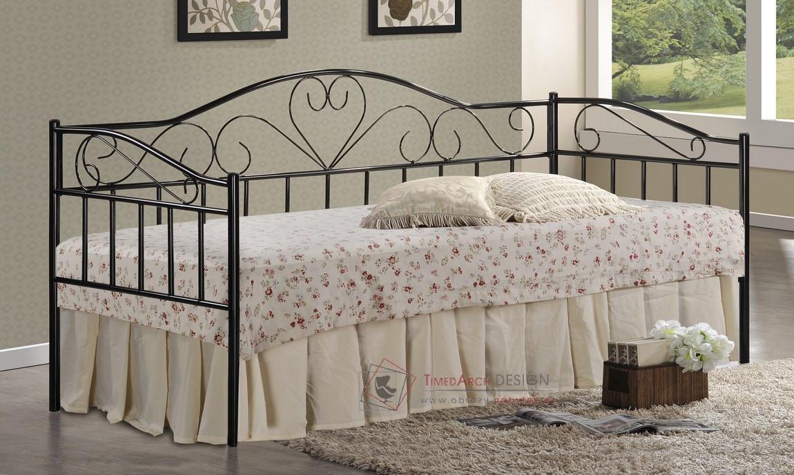 344c4a257f00 Kovová postel 90x200cm PALAVAN černá - Obrazy-nábytek.cz