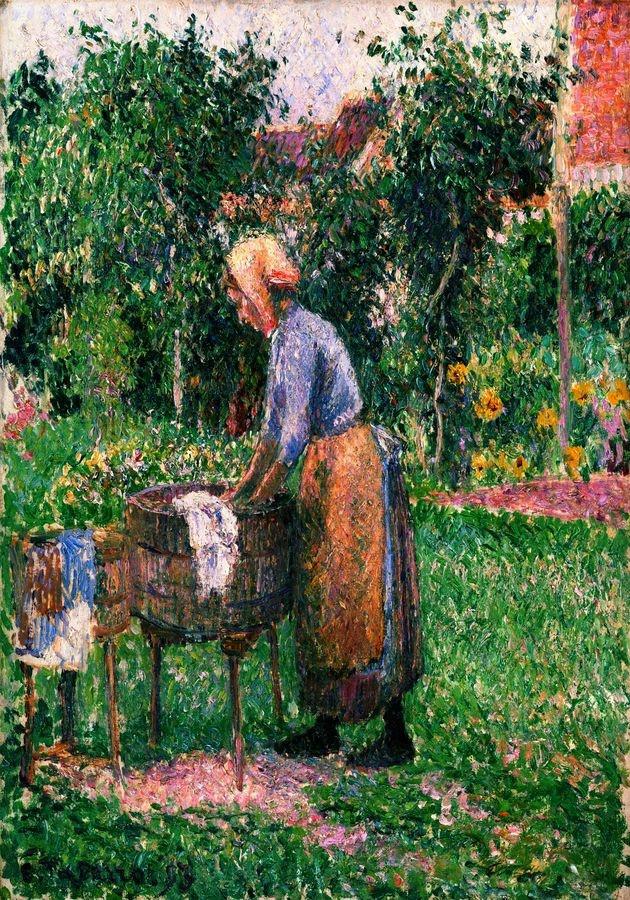 VCP-483 Camille Pissarro - Pradlena v Eragny