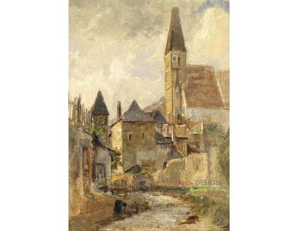 VRAK-130 Marie Egner - Motiv bílých kostelů v údolí Wachau