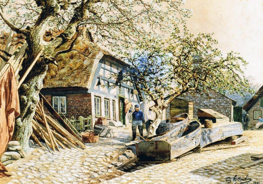 Obraz VSO 570 Bröhmer Ellerbek - Chata rybáře