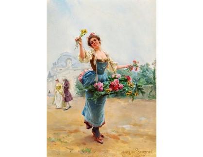 Krásné obrazy II-333 Louis Marie de Schryver - Prodejce květin