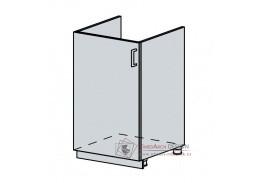 VERONA, dolní skříňka 1-dveřová pod dřez 50DZ, bílá / zlatý jasan