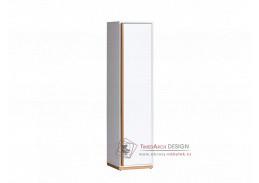 KNOX E12, skříň policová, ořech select / bílá