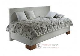 QUATRO, čalouněná postel 90x200cm, čelo u boku