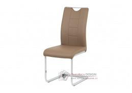 DCL-411 LAT, jídelní židle, chrom / ekokůže latté