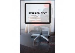 PC podložka pod židli s nopy, 150x120 cm, tvar O, čirá