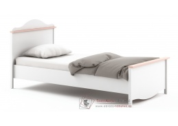 MIA MI-08, postel s matrací, bílá / růžová