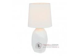 QENNY, keramická stolní lampa typ 1, bílá
