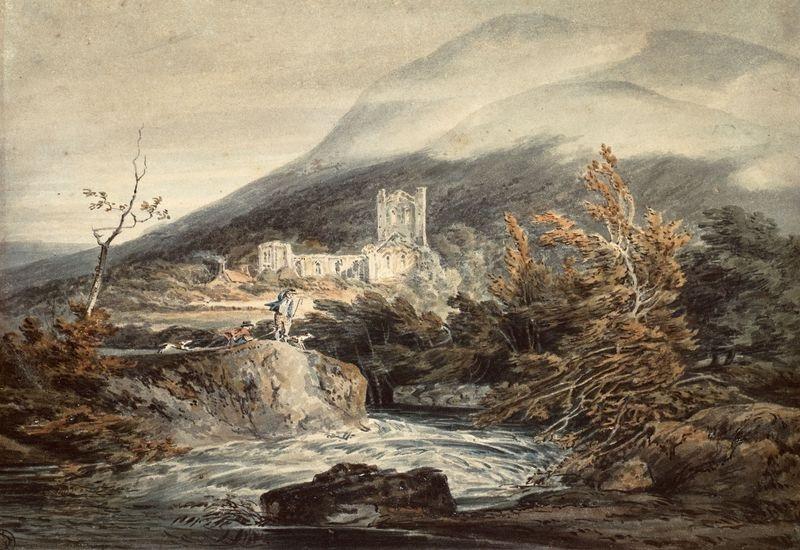 Joseph Mallord William Turner -  Llanthony v opatství Monmouthshire