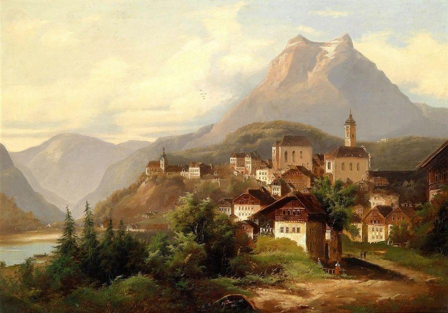 Slavné obrazy V-108 Wilhelm Jankowsky - Kriens u Lucernu